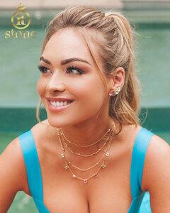Look Bárbara Heck - Ear Cuff Jasmine Rainbow Gold