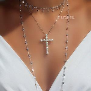 Colar Cruz Pearls