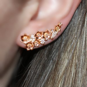 Ear Cuff Flowers Gold