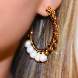 Argola Zahara Pearl Gold