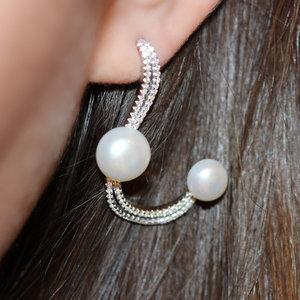 Brinco Curve Pearls