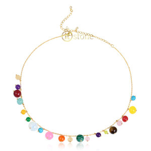Choker Balls Colors Gold