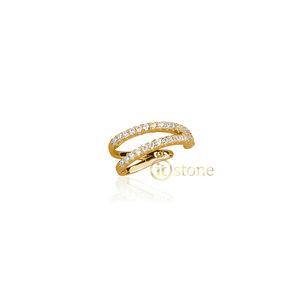 Piercing Falso Vazado Cravejado Gold (unidade)