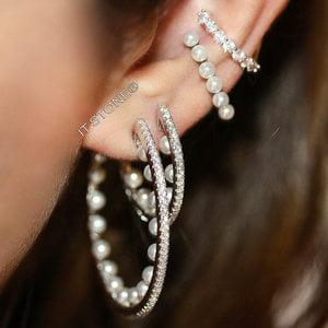 Argola Cravejada Pearls