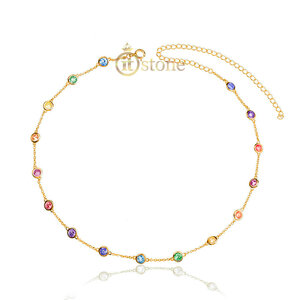 Choker Tiffy Luxo Rainbow Dourada