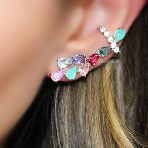 Ear Cuff Multi Colors Luxo