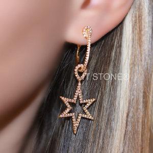 Argola StarBurst Gold