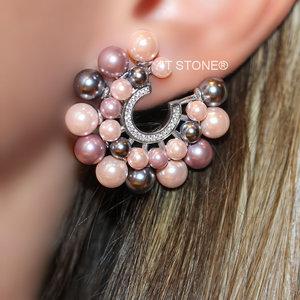 Brinco Curve Cravejado Luxury Pearls