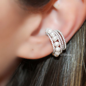 Piercing Falso Aros and Pearls (unidade)