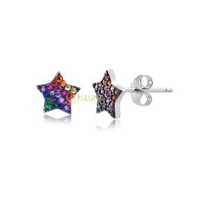 Brinco Mini Star Rainbow Segundo ou Terceiro Furo