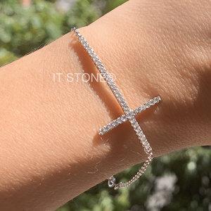 Pulseira Cross Cravejada