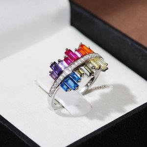 Anel Crazy Baguetes Rainbow