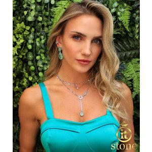 Look Marina Furlan -Brinco Jolie Esmeralda Colombiana Fusion