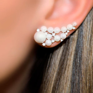 Ear Cuff Pérolas e Zircônias