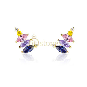 Ear Cuff Jasmine Navetes Colors Gold