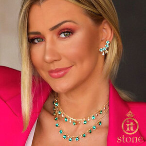 Look Ana Paula Siebert - Ear Cuff Round Stars turmalina