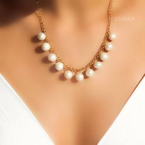Gargantilha Pearls Elo Português Gold