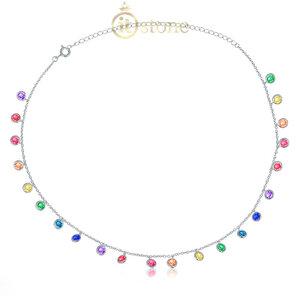 Choker Pontos de Luz Luxo Rainbow