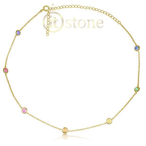 Choker Tiffy Rainbow Dourada