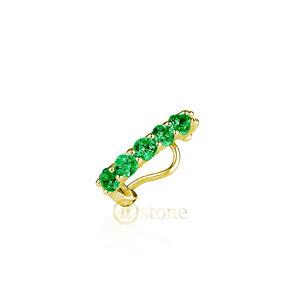 Piercing Falso Pedras Esmeralda Gold (unidade)