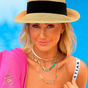 Look Ana Paula Siebert - Mix Gargantilha Gotinhas Colors Gold