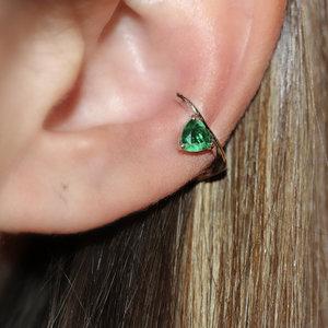 Piercing Falso Triangle Esmeralda Fusion (Unidade)