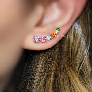 Ear Cuff Rainbow Gold Luxo