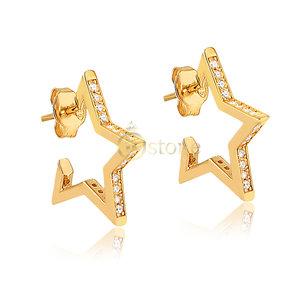 Brinco Argolinha Star Gold