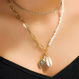 Colar Búzios Shell Pearl Gold