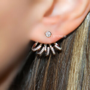 Ear Jacket Garras Cravejadas