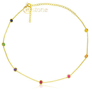 Choker Tiffy Rainbow Gold
