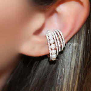 Piercing Falso Aros and Pearls 3D Luxo(unidade)