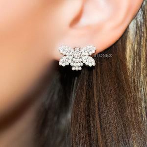 Brinco Butterfly Mini Pearls