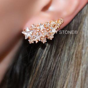 Ear Cuff Multiple Stars Gold