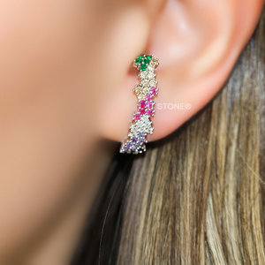 Ear Hook Ivy Bright Rainbow