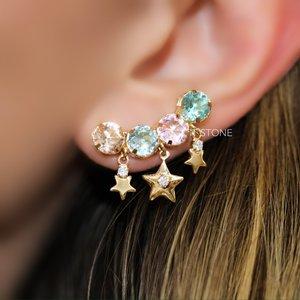 Ear Cuff Round Stars