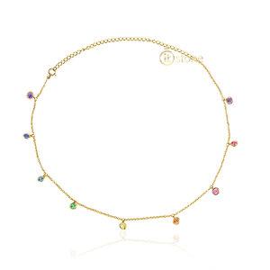 Choker Tiffy Angel Pontos de Luz Rainbow Gold