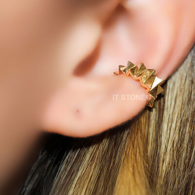 Piercing Falso Crinkle Gold (unidade)