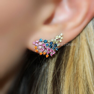 Ear Cuff Alexa Rainbow
