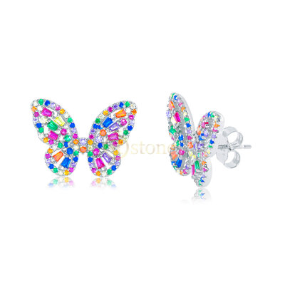 Brinco Butterfly Luxo Rainbow