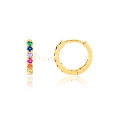 Argolinha Fendy Rainbow Gold