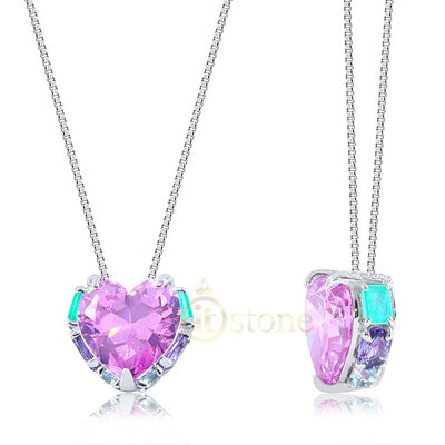 Colar Coração Splendid Kunzita Luxury