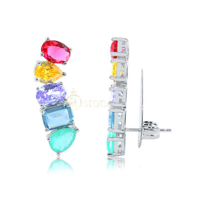 Ear Cuff Stephanie Candy Colors Luxo