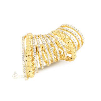 Piercing Falso Multi Aros e Balls Luxo Supreme Gold (unidade)