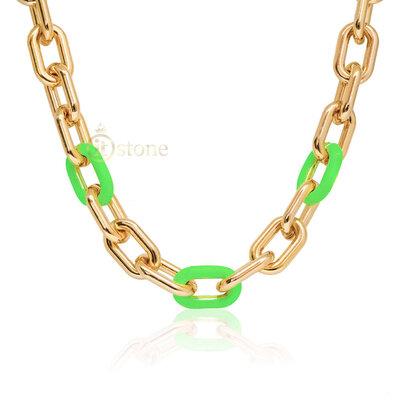 Colar Elos Neon Green