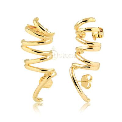 Ear Cuff Aros Lisos Gold