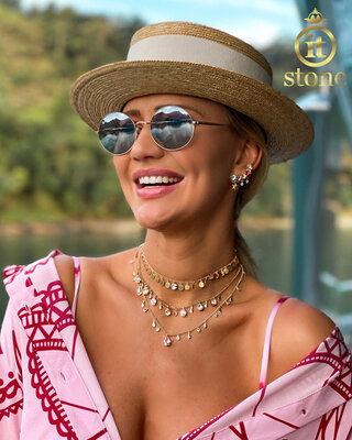 Look Ana Paula Siebert - Ear Cuff Stars and Colors Gold