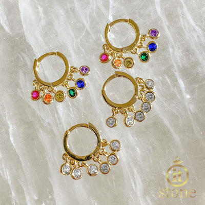 Argolinha Tiffy Rainbow Luxo Gold