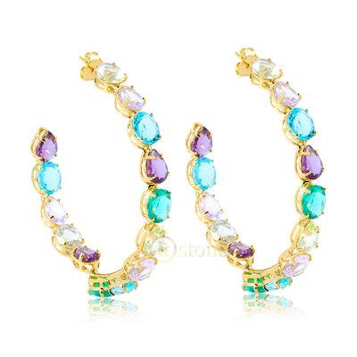 Maxi Argola Pedras Colors