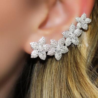 Ear Cuff Flowers Luxo